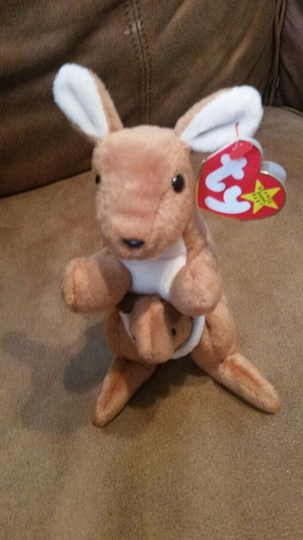 Ty Beanie Baby pouch Kangaroo collectible plush stuffed animal Nov.6, 1996 EUC