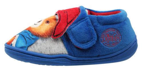 Paddington Bear Boys Blue Low Top Soft Touch Slippers UK Sizes Child 5-10