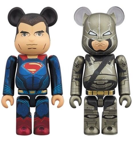 Medicom be@rbrick 2016 DC Comics súperman V Armorojo Batman 100% Bearbrick Boxset