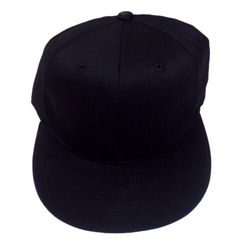 Lot of 24 for $2.00 each. Flat Bill Cap Black S//M