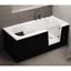 miniatura 10 - Badewanne mit Tür rechts und integrierter abnehmbarer Sitzbank für Senioren 170