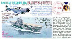 100% Vrai Coverscape Computer Generated 75th Battle Of The Coral Sea Event Cover Clair Et Distinctif