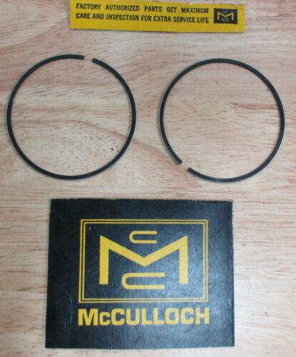 Genuine McCulloch Kart MC-49 Mc-1 Mc-5 Mc-6 Mc-10 Mc-20 ~ Piston Rings .020 Over