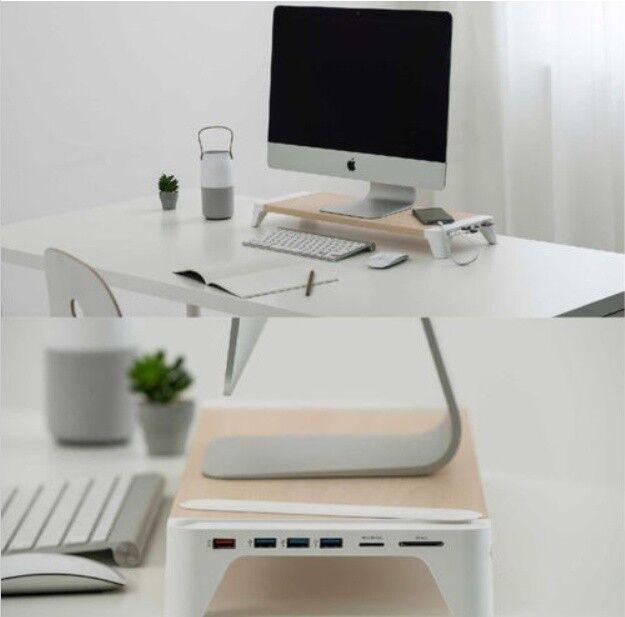 Buy Pallo Usb 3 0 Qualcomm Quick Charging Hub Wooden Desk Monitor