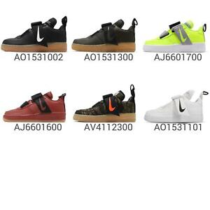 Nike-Air-Force-1-Utility-AF1-Gum-Mens-Kids-Sneakers-Black-Green-Volt-Pick-1