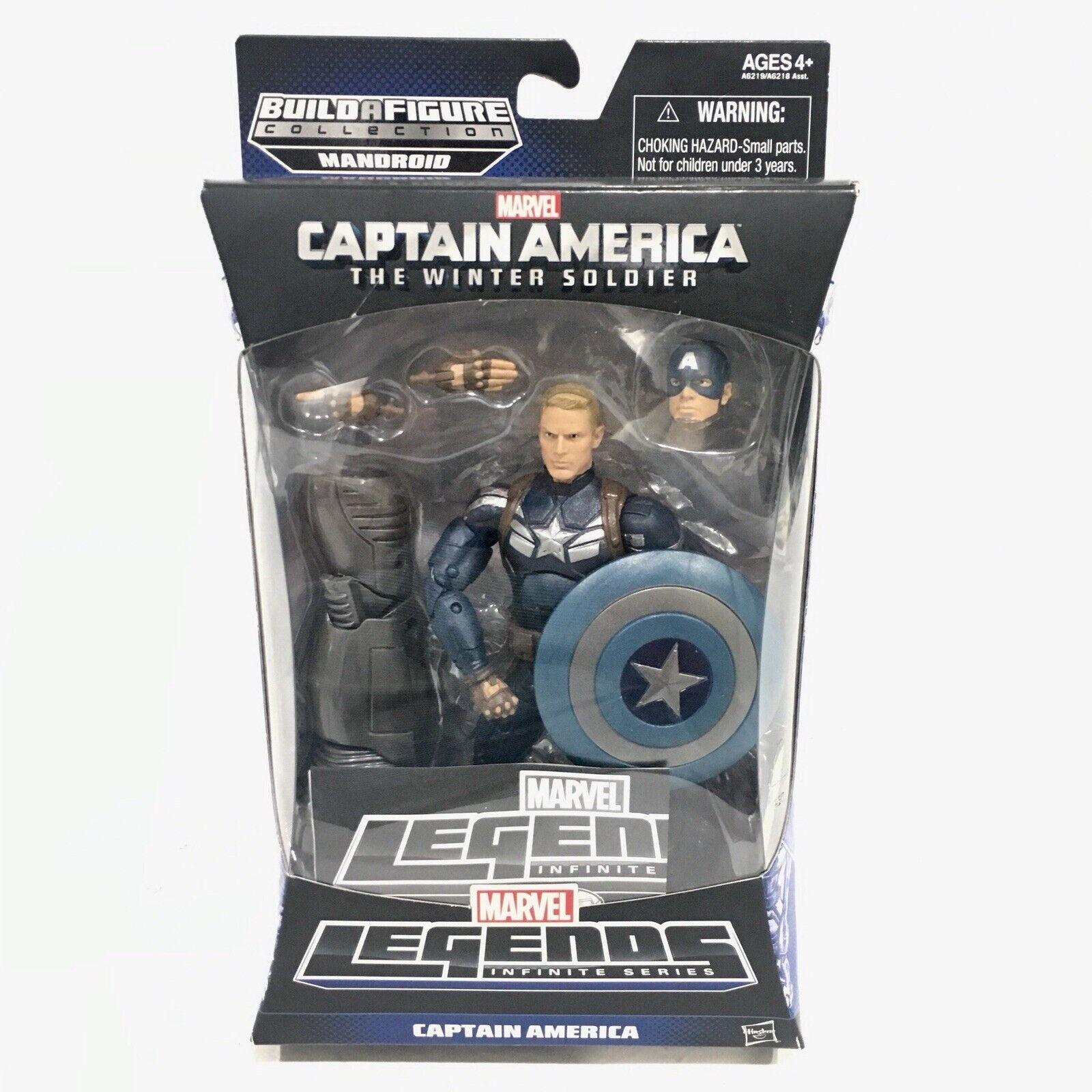 """Marvel Legends 6"""" Captain America Mandroid BAF Wave The Winter Soldier"""