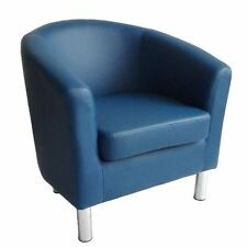 2 Ikea Designer Tub Chairs Armchairs In Blue And Green For Sale