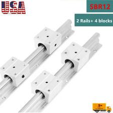 Sbr12 Linear Slide Rail Guide Shaft Rod 300 1500mm4pcs Sbr12 Bearing Block Cnc