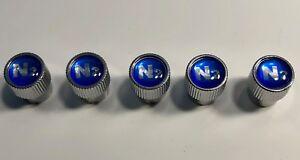 5-Nitrogen-N2-VALVE-STEM-CAPS-With-Blue-N2-inlayed