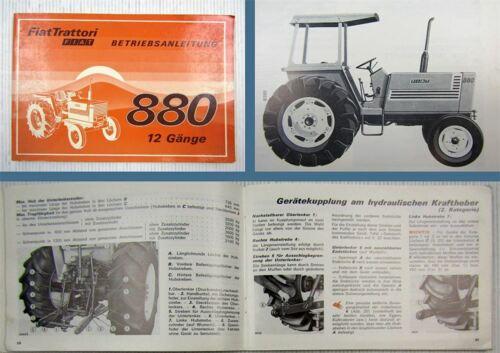 DT Trattori manual de instrucciones de 1978 manual de instrucciones de mantenimiento Fiat 880
