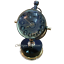 Antique-Brass-Desk-Clock-Mechanical-Vintage-Table-Top-Decorative thumbnail 1