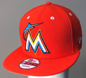 fe774c78a82597 NEW ERA 9FIFTY SNAPBACK CUSTOM MLB MIAMI MARLINS Orange/Black | eBay