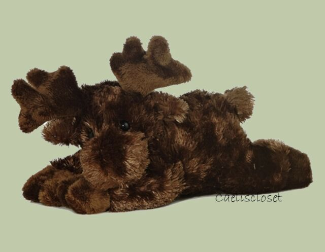"Aurora Maxamoose MOOSE 8"" Flopsie Plush Floppy Stuffed Animal NEW"