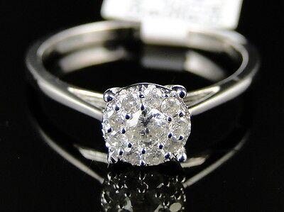 .26ct G SI 14k White Gold Blue Sapphire /& Diamond Wedding Band Channel Set Ring