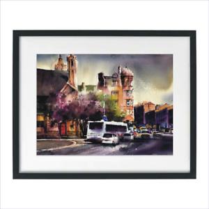 Watercolor-Painting-Print-Shawlands-Glasgow-Landscape-Cityscape-Sarfraz-Musawir