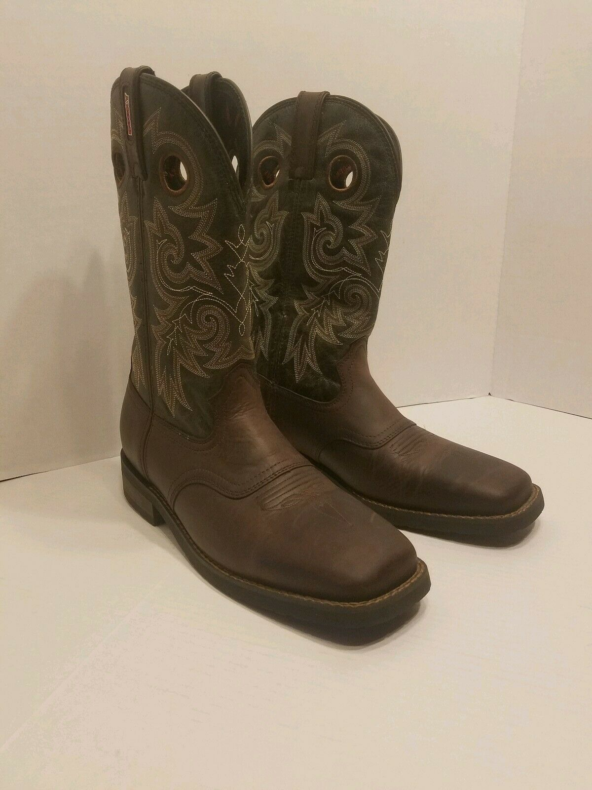 f4541e70938 Men's Rocky Trail Bend Saddle Western Boot, square toe, RKW0129 Size US 12 M