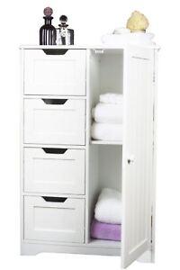 Nuevo gabinete de madera blanca organizador unidad 4 - Organizador cajones bano ...