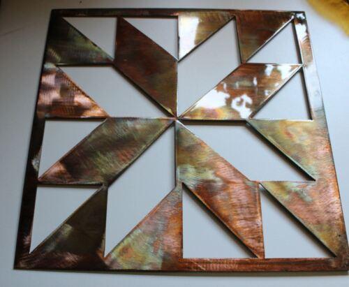 "Quilt Square 12/"" Metal Wall Art Decor"