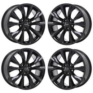 18 Chrysler 200 Black Wheels Rims Factory Oem 2015 2016 2017 2018