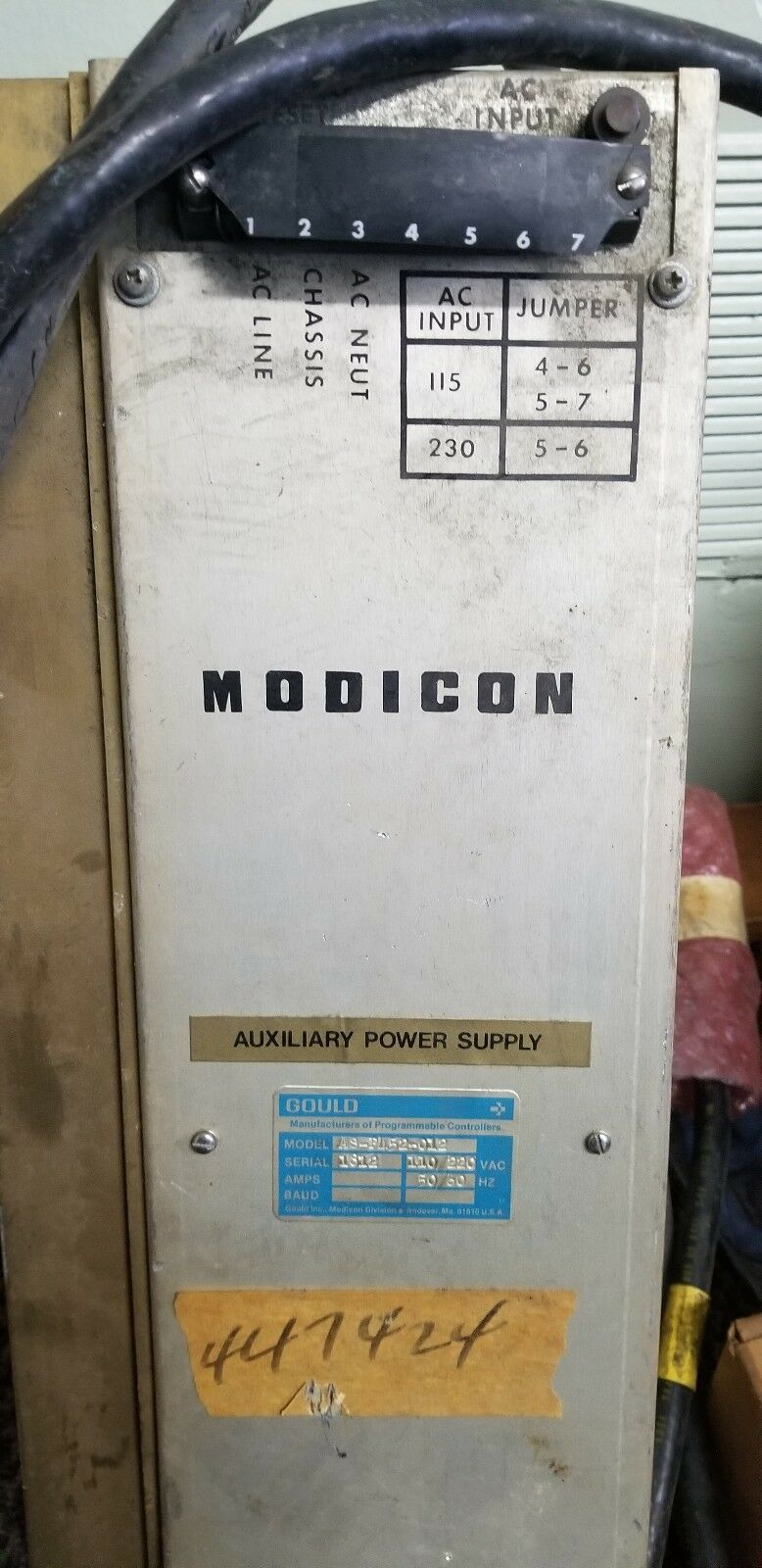 WARRANTY AEG Modicon // Gould Aux Power Supply Module P452-012 Used