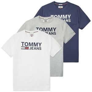 60d45e24c Details about Tommy Hilfiger T-Shirt - Tommy Jeans Classic Logo Tee - Navy,  Grey, White - BNWT