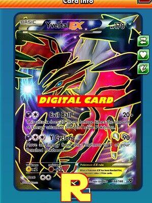 FA Yveltal GX FULL ART 124//156 for Pokemon TCG Online PTCGO, Digital Card