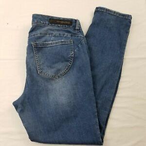 Rue-21-black-womens-size-15-16-jeans-low-rise-curvy-jegging-flex-pants