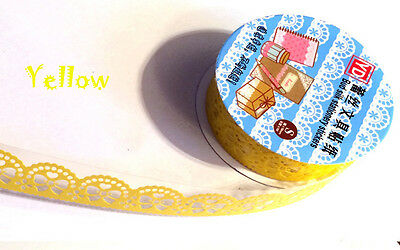 New Lace Roll DIY Washi Paper Decorative Sticky Paper Masking Tape Self Adhesive