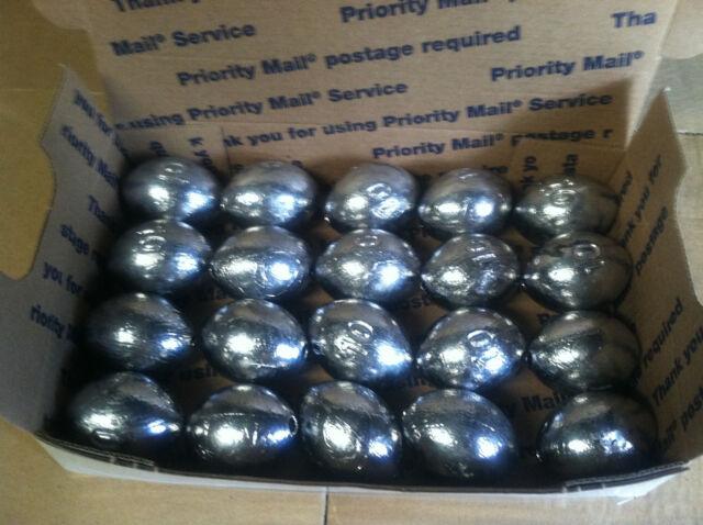 4 oz Egg Slip Sinkers 15//30//45//60 fishing weights FREE SHIPPING