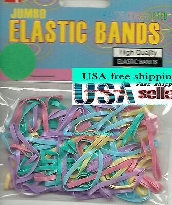 "color elastic bands pony tail girl dreadlock braid black white 3//8/"" inch diamete"