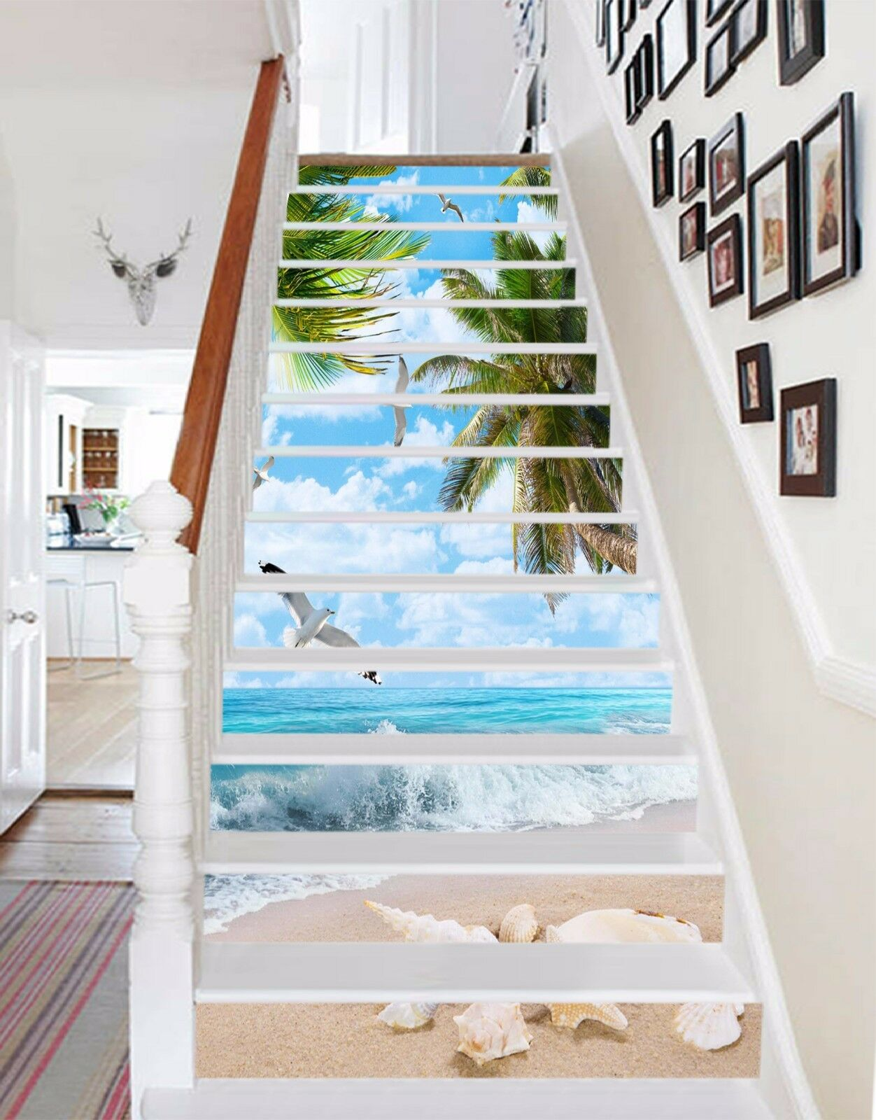 3D Beach View 836 Stair Risers Decoration Photo Mural Vinyl Decal Wallpaper AU