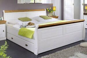 Massivholz Bett Mit Schubladen 100x200 Holz Einzelbett Kiefer Massiv