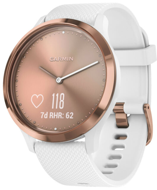 Garmin Vivomove Hr Deporte Damen-Smartwatch S/M Rosado/Blanco 010-01850-02