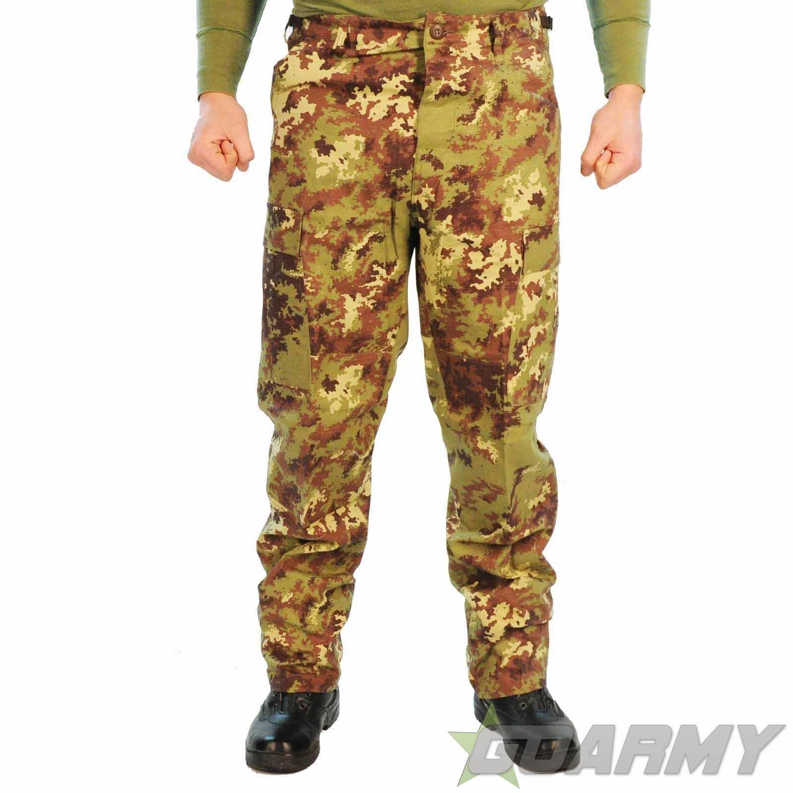 MFH Italian Army Vegetato Camo BDU Ripstop Trousers