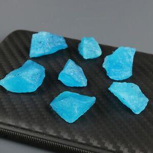 Natural Aguamarina Azul Cristal Curativo Rough Gemstones Lote 100.0 CT 7-8 Pcs