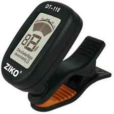 Ziko DT-118 Chromatic Guitar Tuner Clip on Pick Up LCD