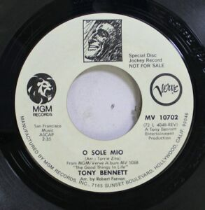 Pop-Promo-45-Tony-Bennett-O-Sole-Mio-The-Good-Things-In-Life-On-Mgm-Records