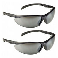 2 Pack: Msa Safety Works Contoured Adjustable Tinted Safety Glasses on sale