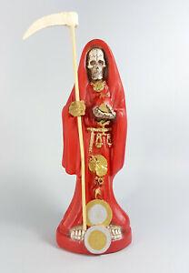 Figura SANTA MUERTE ROJA Con Carga 20cm / Image HOLY DEATH RED Statue Santeria