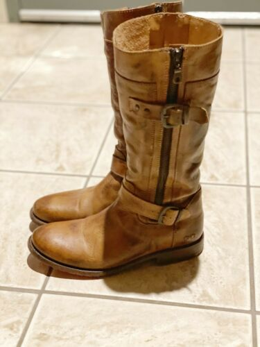 BED STU Tan Rustic Gogo Leather Boots SZ 9.5