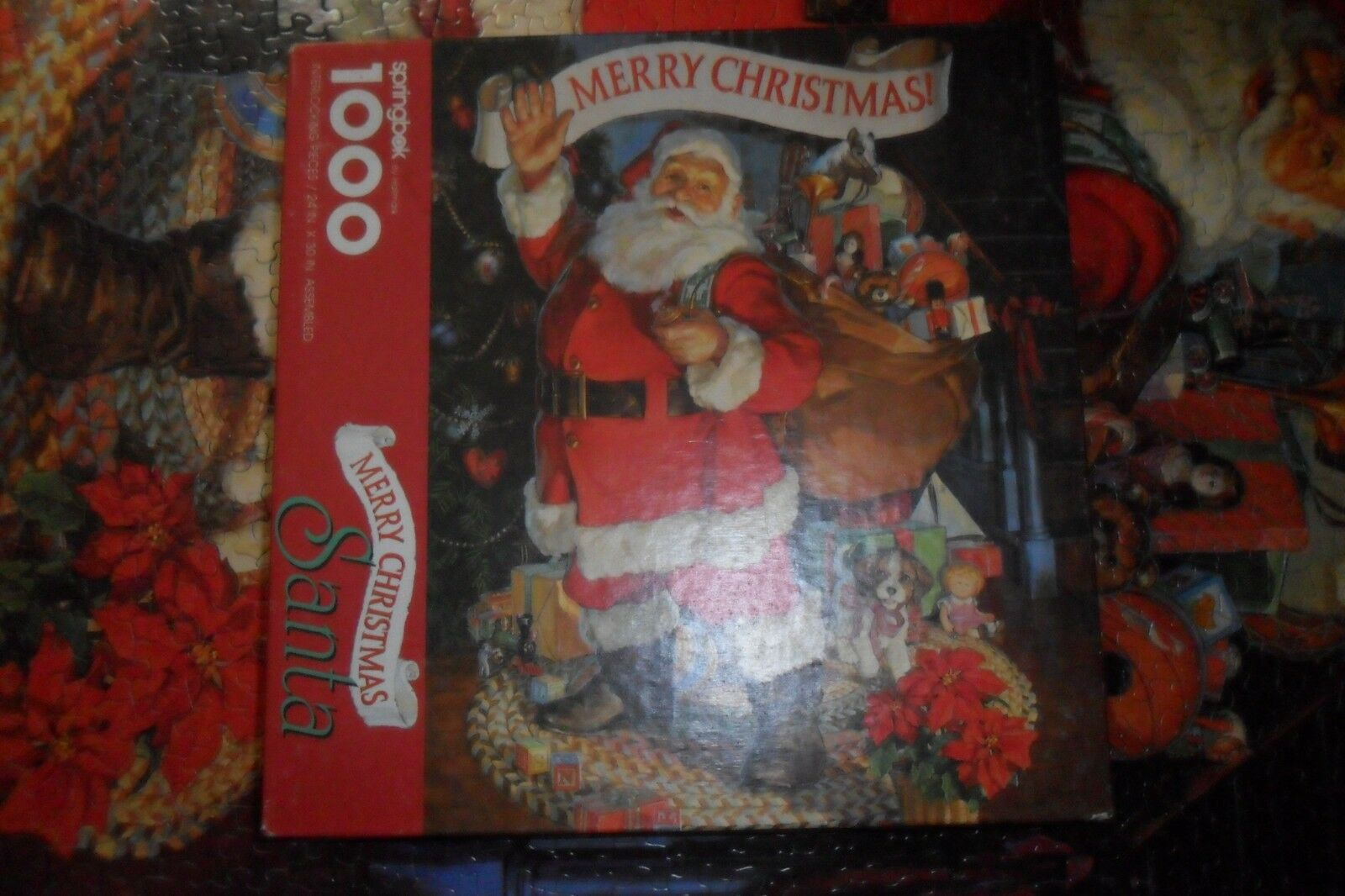 1991 springbock  frohe weihnachten  santa 1000 pc urlaub puzzle vollendet.