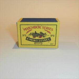 Matchbox-Lesney-2-a-Dumper-Truck-empty-Repro-B-style-Box