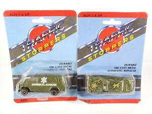 Vintage-Traffic-Stoppers-1-64-Diecast-Military-Army-Vehicles-Lot-NEW-NOC
