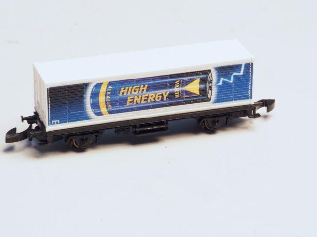 Marklin Z-scale  Container Car Varta High Energy
