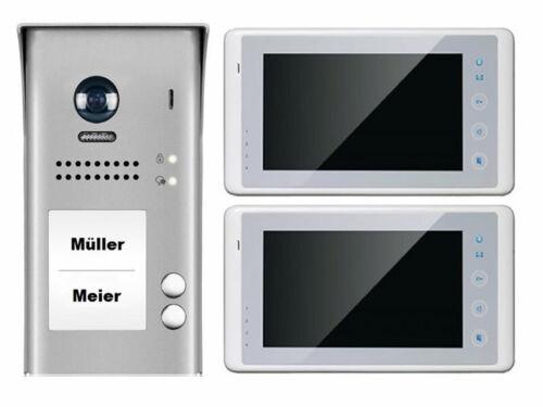 2-Familien Video Türsprechanlage Klingelanlage Touchscreen 120° Weitwinkelkamera