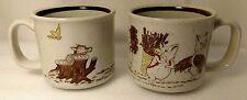 Vintage 3 Little Pigs Big Bad Wolf Coffee Mug Stoneware made by: Otagiri