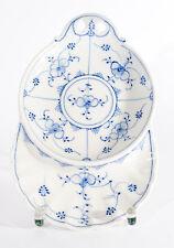 Rauenstein Porzellan Teller Platte Schale Untertasse Indisch Blau Strohblume