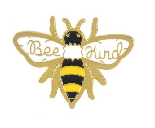 Bee Kind Pin Badge Bumble Bee Gold Tone Metal Enamel Brooch Broach UK Seller