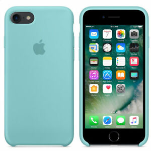 new style 1b0bf 2a625 Details about MARINE GREEN REAL ORIGINAL Apple Silicone Case iPhone 8 4.7