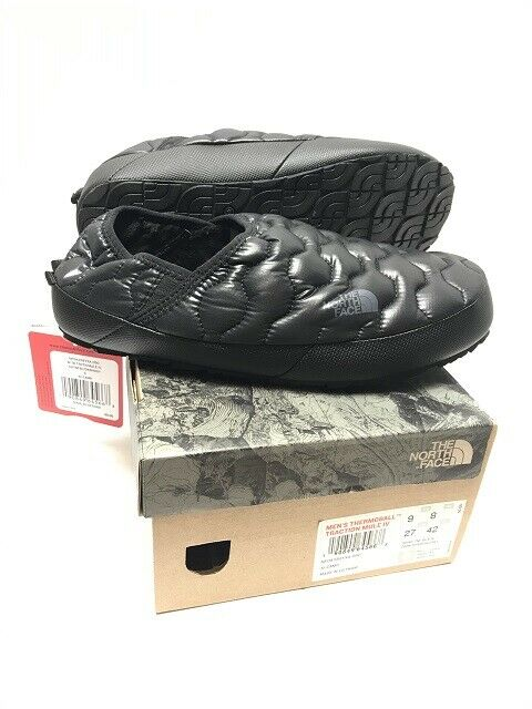 NEW THE NORTH FACE WOMENS THERMOBALL TRACTION MULE SLIPPER IV BLACK FREE SHIP